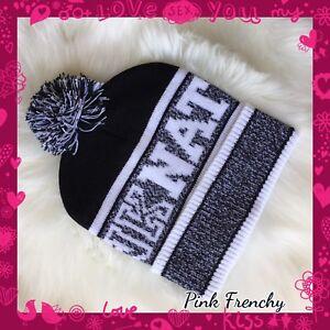 c07f5761550 Details about New Victoria s Secret PINK Fashion Show Knit Beanie Hat PINK  NATION 2016
