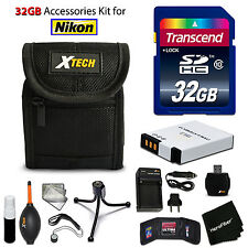 32GB ACCESSORIES Kit for Nikon Coolpix A900, S9900, S9700, S800c, S9500