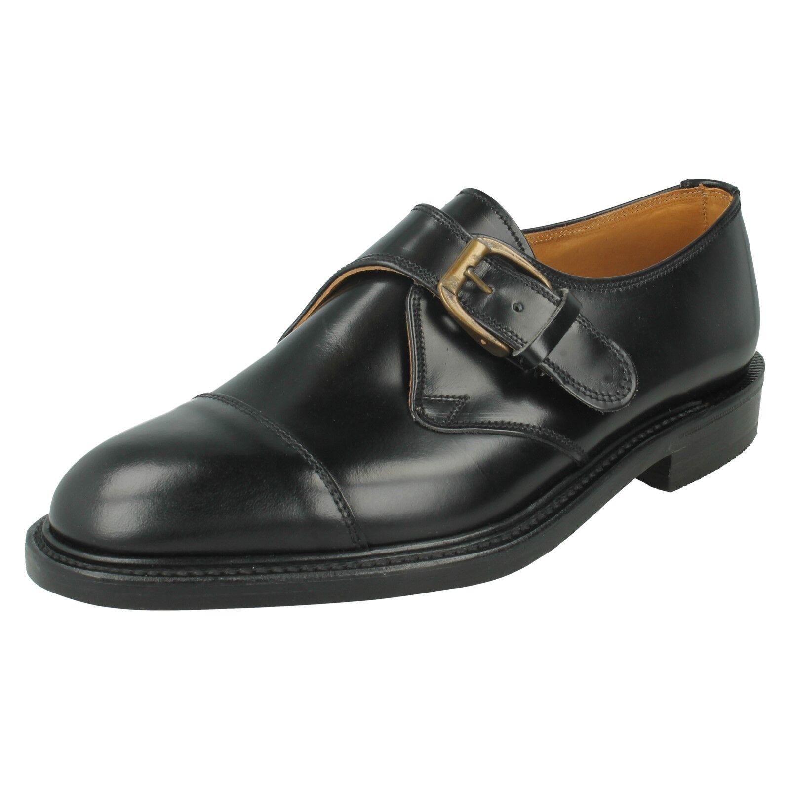 Loake Herren Leder Schnalle Klassisch Smart Formaler Mönch-gurt Slip On Schuhe   | Marke