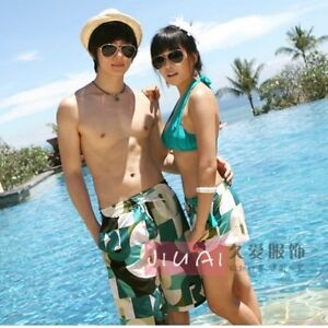 1993356435 Summer New Couple Lover Mens Womens Beach Surf Board Sexy Swim ...