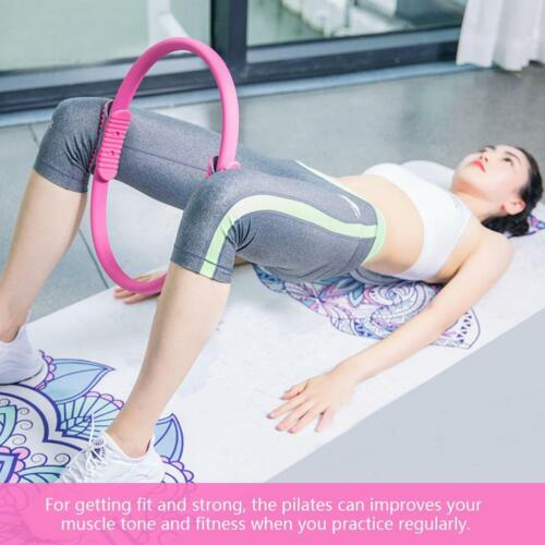 4 Colors Dual Grip Yoga Pilates Ring Resistance Circle for Thighs and Legs Yoga