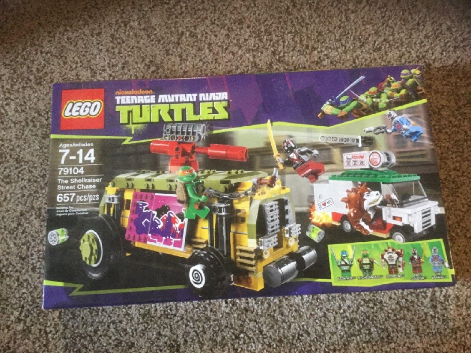 NIB LEGO Teenage Mutant Mutant Mutant Ninja Turtles The Shellraiser Street Chase (79104) e60459