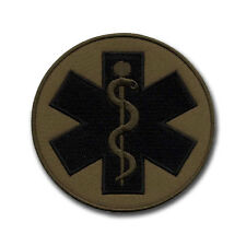 """Paramedic Cross - Subdued Round Patch/Badge 3.5"""""""