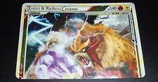 Entei & Raikou LEGEND 90/95 HGSS Unleashed Holo NEAR MINT Pokemon Card