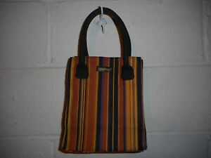 Image is loading Longaberger-Small-Striped-Tote-Bag-7-034-x9- 21a7003bd6