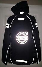 VOLVO Official Merchandise Mens Waterproof Black Hooded Jacket Sz. LARGE
