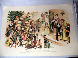 Old-Father-Christmas-amp-Modern-Children-1891-Litho-Fairy-Tale-Witch-Santa-Mermaid