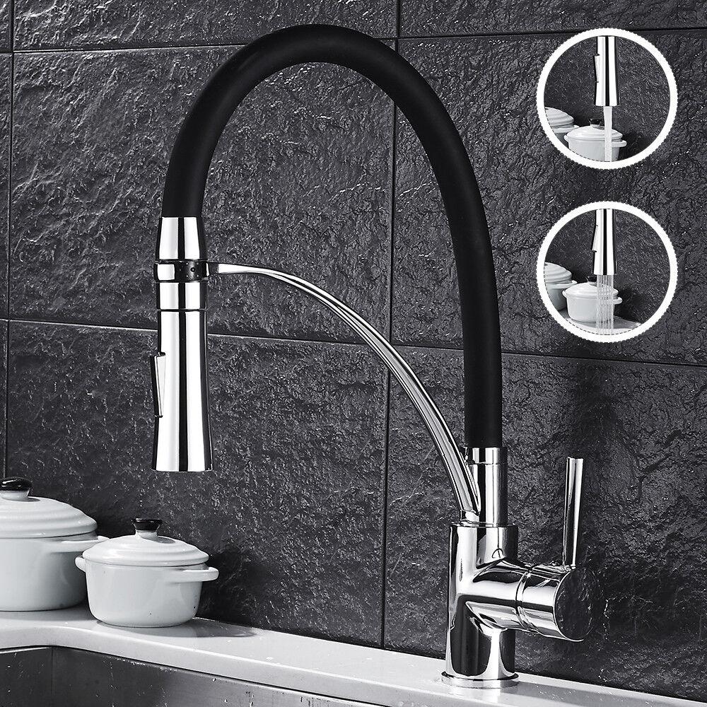 Schwarz drehbar Küchenarmatur Spültischarmatur Mischbatterie Wasserhahn