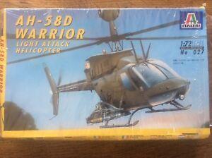 Italeri Model Kit Scale 1:72 Scellé Ah-58d Warrior Light Hélicoptère D'attaque 027-afficher Le Titre D'origine