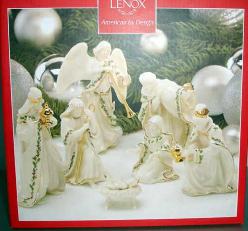 Lenox Holiday Miniature Nativity Set of 7 Figures Holy Family 3 Kings Angel New