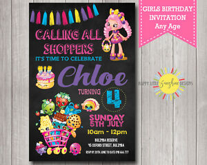 image relating to Shopkins Printable Invitations named Info concerning Tailor made Printable Ladies Shopkins Birthday Invitation