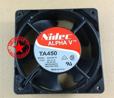 NIDEC TA450 A30108-10 AC115V 0.26A// 120×120×38mm #MD35 ventilador de refrigeración .21 A QL