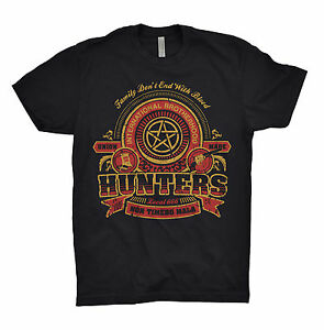 Supernatural-T-Shirt-Winchester-Brothers-Hunters-Team-Sam-Dean-Bobby