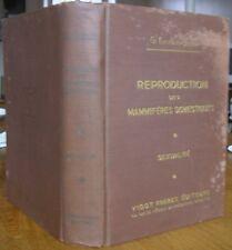 G. LESBOUYRIES REPRODUCTION DES MAMMIFERES DOMESTIQUES 1949 MEDECINE VETERINAIRE