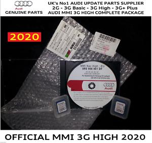 AUDI Q5 Q7 MMI 3 G alto HDD Genuine Aggiornamento SD 0257 2017 mappe 6.24.2 SD Pacchetto Completo