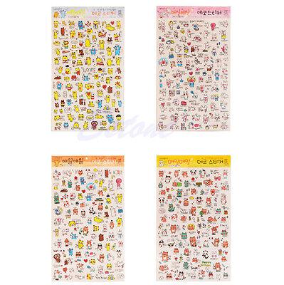 1Pc Cute Funny Cartoon Stickers Diary Label Scrapbook Calendar Decoration Korean
