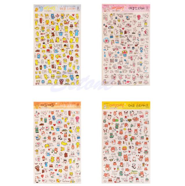 1Pc Cute Korean Funny Cartoon Stickers Diary Scrapbook Calendar Label Decoration