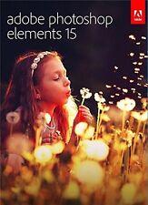 Adobe Photoshop Elements 15 MAC/PC *** NEW IN BOX ***