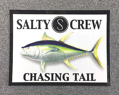 SALTY CREW Sticker 4in TUNA Fishing decal