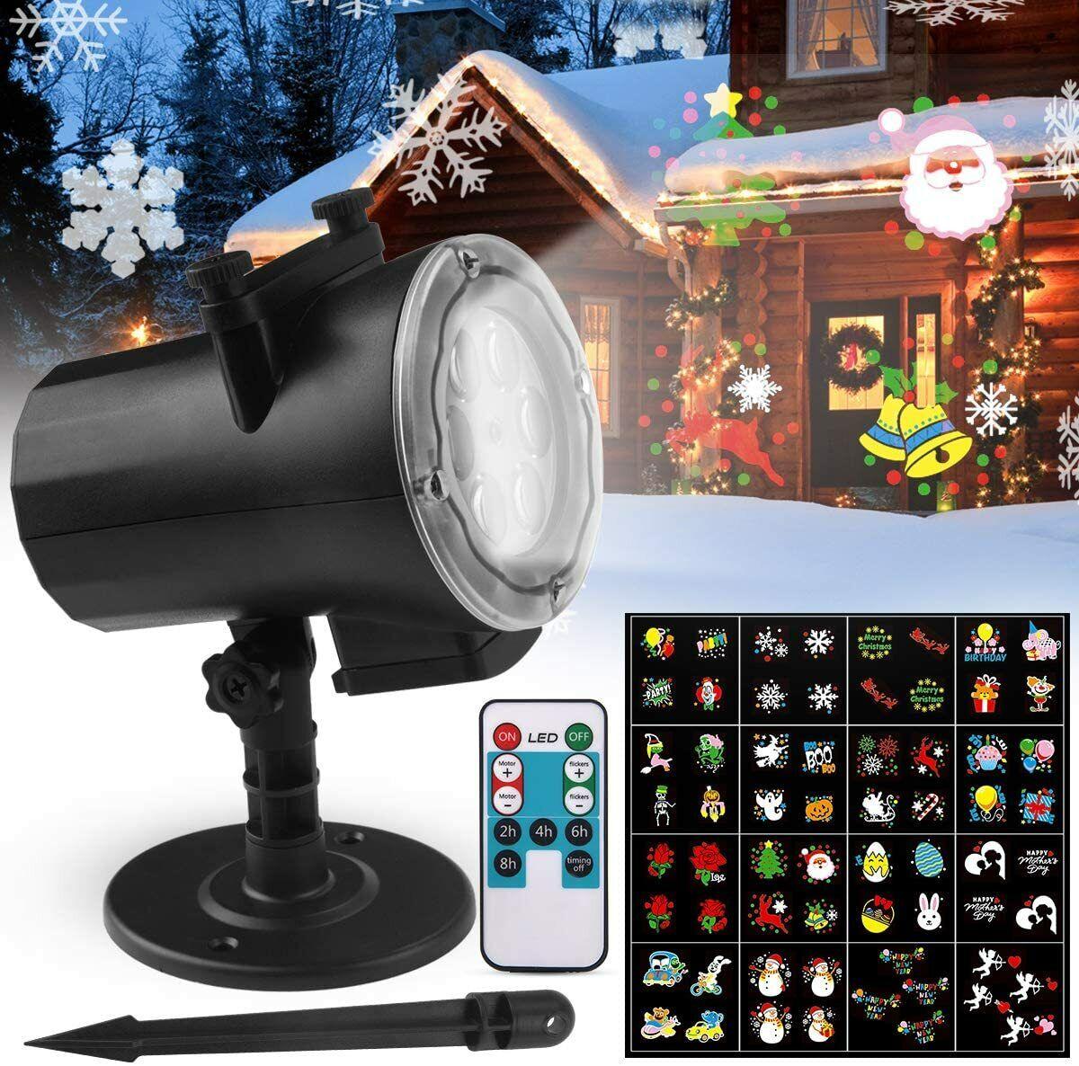 Proyector Navidad LED FOCHEA IP65 Luces de Interior y Exterior con 16...