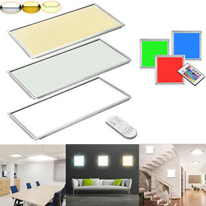 led panel 30x30 120x30 60x120 30x60cm 12 64w kaltwei warmwei rgb ir ultraslim. Black Bedroom Furniture Sets. Home Design Ideas