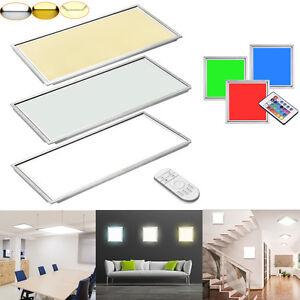 led panel 30x30 120x30 60x120 30x60cm 12 64w kaltwei warmwei rgb ir ultraslim ebay. Black Bedroom Furniture Sets. Home Design Ideas