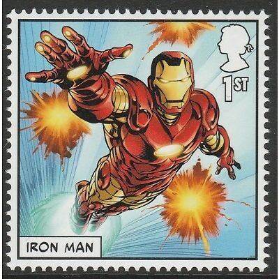 UK MARVEL Iron Man single (1 stamp) MNH 2019 after March 31
