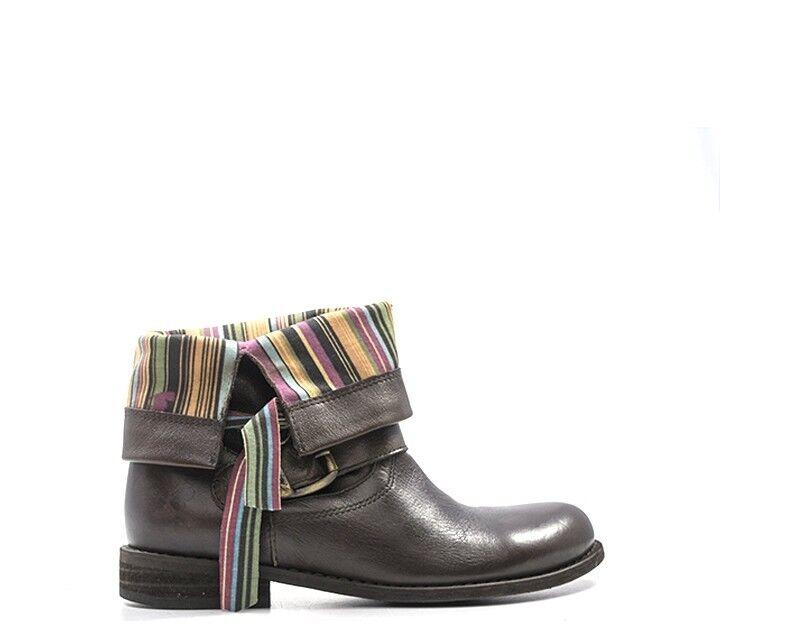 shoes FELMINI Femme brown Cuir naturel 8247LAV-TM