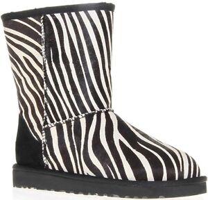 7dddb330590 Details about UGG Australia Womens Classic Short Exotic Boots Zebra 1002790  NIB
