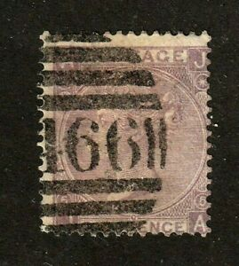 Great-Britain-stamp-45-used-1865-Queen-Victoria-p-5-wmk-24-SCV-100
