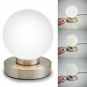 Design LED Schreib Tisch Lampe Arbeits Zimmer Lese Touch Glas Büro Kugel Leuchte