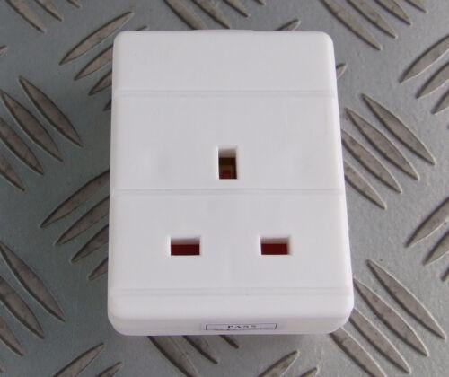 Simple gang 13A arrière extension lead socket white 230V 240V idéal remplacement