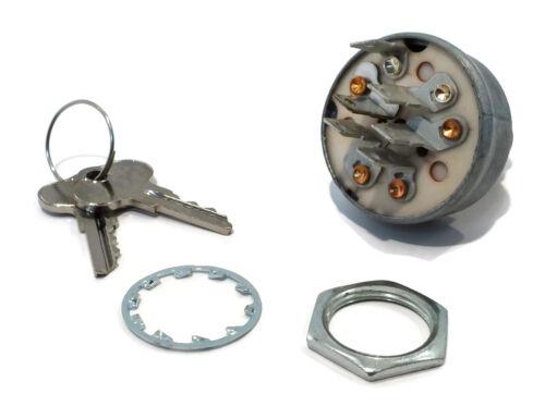 IGNITION SWITCH w// Keys fits John Deere F510 F525 F710 F725 F735 Diesel Mowers