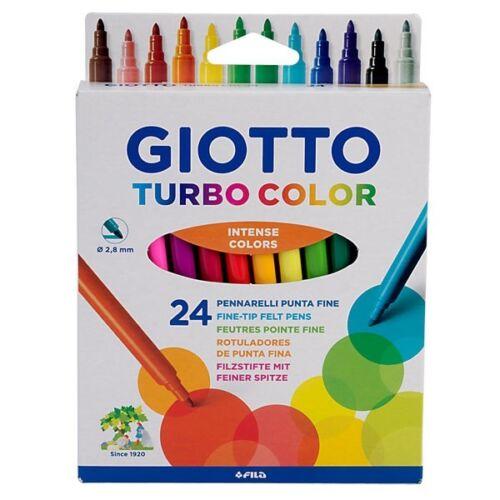 Juego de 24 y 36 Giotto Turbo Color-Fino De Fieltro Punta Plumas-Escuela Niños Arte