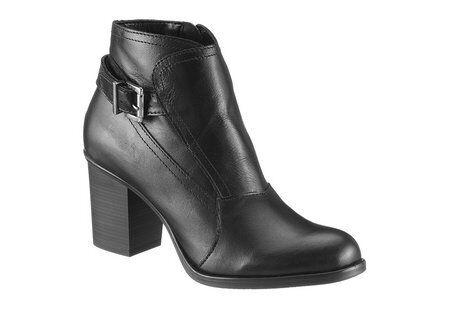 ESPRIT Stiefeletten Gr. 41 Damen Schuhe Absatz 70 mm Leder Stiefel schwarz NEU