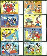TANZANIA  DISNEY CHARACTERS SCOTT#424/31   SET MINT NH