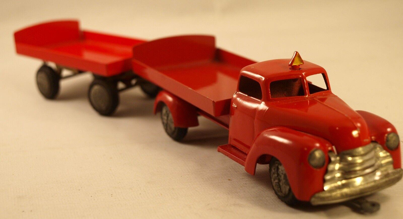 Techno n ° 750 camion dodge plateau à ridelles bässe avec remorque 737 selten