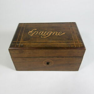ANTICA-PICCOLA-SCATOLA-PORTA-GIOIE-MONETE-SOLDI-CASSA-SALVADANAIO-IN-LEGNO-1800