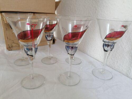 12 x Tiffany Gläser Glas Nagel Exclusiv Design Sekt handbemalt Hochemaildekor...