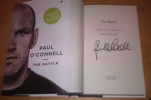 Paul-O-039-Connell-SIGNED-The-Battle-HB-Book-NEW-SIGNED-Rugby-Ireland-Munster