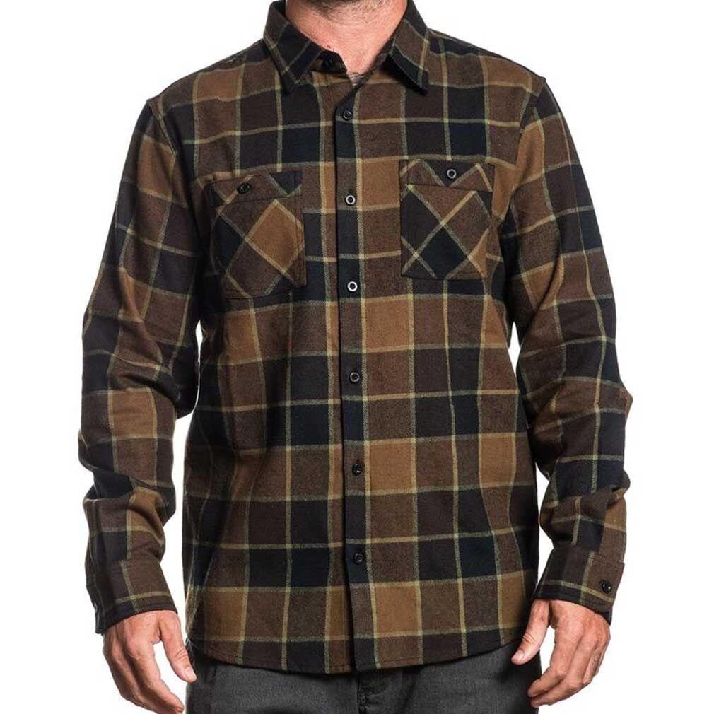 Sullen Art Collective Clothing Flanellhemd Holzfäller Hemd Shirt - Woodland