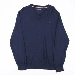 Tommy Hilfiger blau 00s V-Neck Pullover Herren M