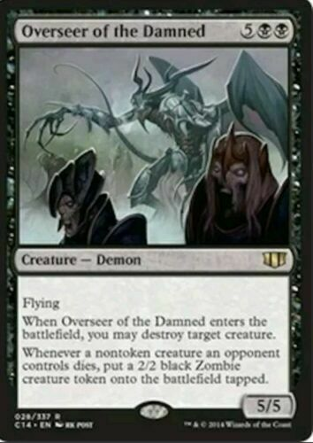 MTG Rare Overseer of the Damned x1 NM Commander 2014