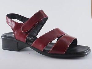 41 Neu Rot Schuhe Leder Sandalen Sandaletten Damen Piazza 38 37 39 TKJF1cl