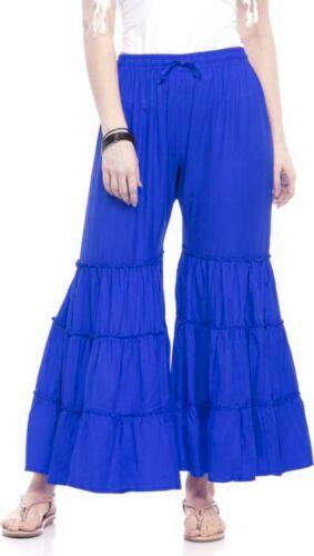 Les femmes indiennes Pantalon Pant Sharara Design Palazzo Beach Wear Baggy Grande Taille