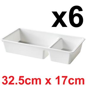 6x Plastique Tiroir Organisateur IKEA billingen Boîtes plateaux Diviseur Armoire Malm
