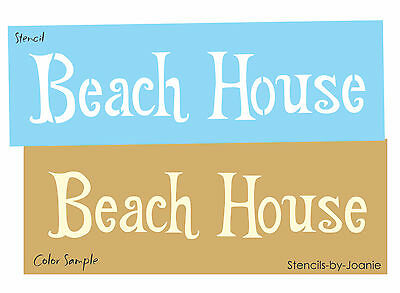 STENCIL Beach House Cabin Lake Ocean Seaside Cottage Surf Theme Country Signs