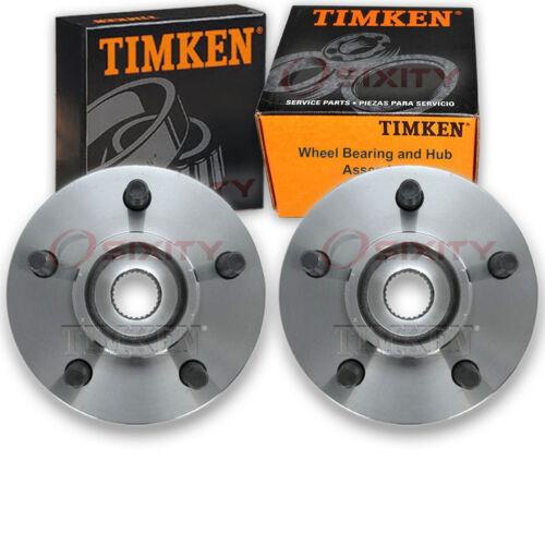 Timken Front Wheel Bearing /& Hub Assembly for 1999-2001 Jeep Cherokee Pair ki