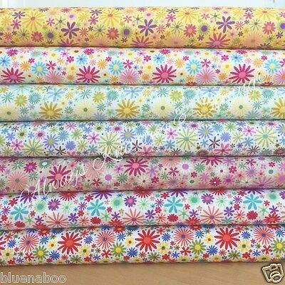 MOMO Japanese floral 100 /% cotton dressmaking Fabric 112cm Wide PER 1//2 metre//FQ