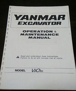 yanmar vio 40 operation maintenance manual ebay rh ebay co uk Yanmar Diesel Engine Parts Breakdown Yanmar F-16 Model Engine